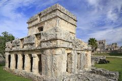 Tulum ruins of Maya Civilization, Yucatan Peninsula. In Riviera Maya, Mexico royalty free stock image