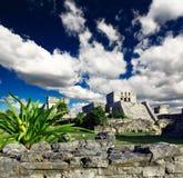 Tulum ruins in the Maya World near Cancun stock photo