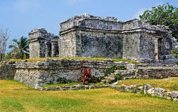 Tulum Ruins. Mayan ruins located in the Yucatan peninsula of Mexico royalty free stock photography