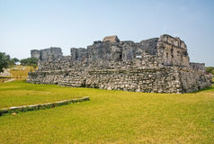 Tulum Ruins. Mayan ruins located in the Yucatan peninsula of Mexico royalty free stock image