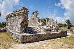 Tulum ruins. Mexican ancient ruins in tulum Stock Photos