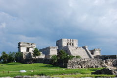 Tulum ruins in Mexico. Archaeological  site of Tulum, Mexico Royalty Free Stock Image
