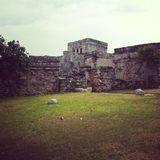 Tulum Ruins. Mexico royalty free stock photos