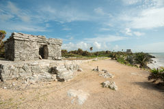 Tulum Ruins in  Mexico Royalty Free Stock Image