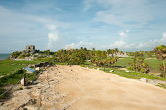 Tulum Ruins in  Mexico Stock Photography