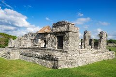 Tulum Ruins - Mexico, Yucatan, Maya sites Stock Photo