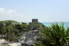 Tulum Ruins. Near Cancun Mexico stock images