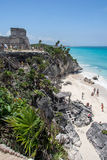 Tulum Ruins Temple Yucatan Mexico Stock Photo