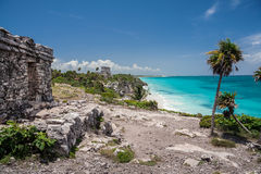 Tulum Ruins Temple Yucatan Mexico Royalty Free Stock Images