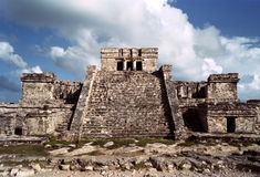 Tulum's Mayan temple Royalty Free Stock Images