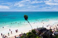 Tulum Strand, MayaRiviera, Mexiko lizenzfreie stockbilder