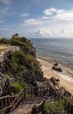 Tulum-Strandseite stockbilder