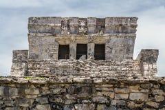 Tulum tempel Yucatan Mexico Arkivbilder