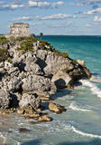 Tulum temple Royalty Free Stock Image