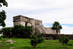 Tulum Temple. Ruins of the ancient Tulum temple Royalty Free Stock Image