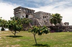Tulum Temple Yucatan Mexico Stock Image