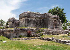 Tulum Temple Yucatan Mexico Stock Photos