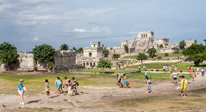 Tulum Temple Yucatan Mexico Royalty Free Stock Photos