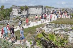 Tulum tourists Stock Photos
