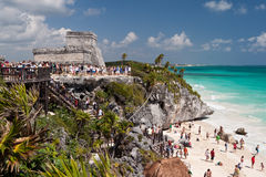 Tulum, une ville maya antique Image stock