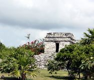 Tulum watch tower Royalty Free Stock Image