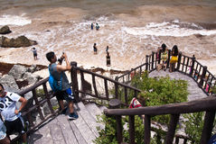 tulum yucatan του Μεξικού παραλιών Στοκ εικόνα με δικαίωμα ελεύθερης χρήσης