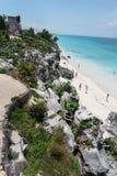 tulum yucatan виска руин Мексики Стоковая Фотография RF