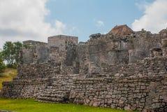 Tulum, Yucatan, Mexico: Archeological ruins, built by the Mayas. Tulum, Yucatan, Mexico: Archeological ruins built by the Mayas. Ancient city stock photo