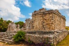 Tulum, Yucatan, Mexico: Archeological ruins, built by the Mayas. Tulum, Yucatan, Mexico: Archeological ruins built by the Mayas. Ancient city royalty free stock photos