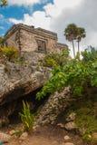 Tulum, Yucatan, Mexico: Archeological ruins, built by the Mayas. Tulum, Yucatan, Mexico: Archeological ruins built by the Mayas. Ancient city stock photography