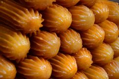 Tulumba-Nachtischrezept lizenzfreies stockbild