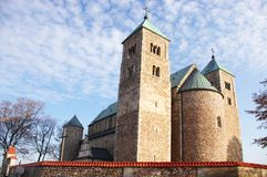 Tum collegiate. The Romanesque medieval collegiate church in Tum, Leczyca, Poland Royalty Free Stock Images