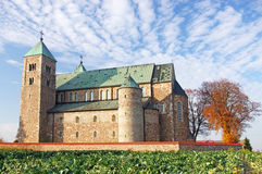 Tum collegiate. The Romanesque medieval collegiate church in Tum, Leczyca, Poland Stock Image