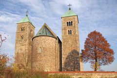 Tum collegiate. The Romanesque medieval collegiate church in Tum, Leczyca, Poland Royalty Free Stock Photo