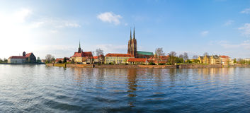 Tum island in Wroclaw. Poland Royalty Free Stock Photography