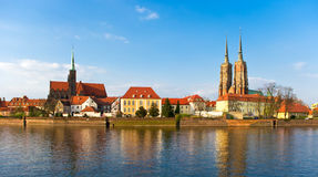 Tum island in Wroclaw Stock Photos