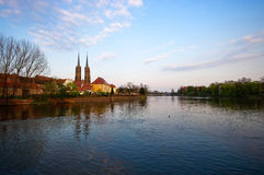 Tum island in Wroclaw. Poland Royalty Free Stock Photo