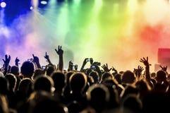 tłum koncertowe sylwetki Zdjęcia Royalty Free