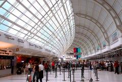 tłum portów lotniczych Zdjęcia Stock