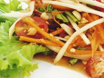Tum tailandês do Alimento-som (salada da papaia) Fotos de Stock Royalty Free