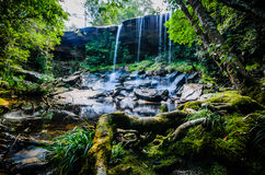 Tum So-nor Waterfall, Tham So Nuea Waterfall, Flowing Water, fal. Tum So-nor Waterfall or Tham So Nuea Waterfall, It is high 10 meters and there is only one Royalty Free Stock Photo