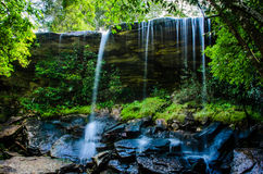 Tum So-nor Waterfall, Tham So Nuea Waterfall, Flowing Water, fal Royalty Free Stock Photography