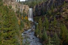 Tumalo Falls in the Central Oregon Stock Photo