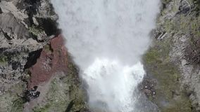 Tumalo Falls 05-24-19. Tumalo Falls is a 97-foot waterfall on Tumalo Creek, in the Cascade Mountain Range west of Bend in the U.S. state of Oregon. And is within stock video footage