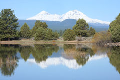 Tumalo Reservoir in May Royalty Free Stock Images