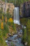 Tumalo waterfalls in autumn Royalty Free Stock Image