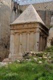 Tumba antigua de Zechariah en Jerusalén Foto de archivo
