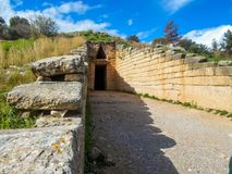Tumba de Agamemnon, Mycenae, Grecia fotos de archivo libres de regalías