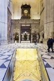 Tumba de Cristoforo Colombo en la catedral de Sevilla, Andalucía, Fotografía de archivo