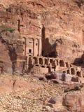 Tumba de la urna en el Petra fotografía de archivo